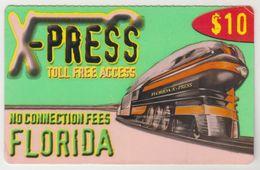 USA - X-Press New Florida (Train), Prepaid 10$, Used - Etats-Unis