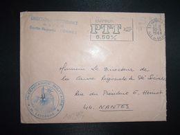 LETTRE OBL.MEC.30-4 1968 35 RENNES RP ILLE ET VILAINE DIRECTION DE L'INTENDANCE De La 3e R.M.+INTENDANCE N. LAVERGNE - Postmark Collection (Covers)