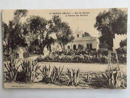 Carte Postale Ancienne : Maroc, OUJDA : Dar El Baraka à Travers Les Oliviers - Autres