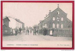Lamorteau - Passage à Niveau Et  Presbytère - Très Animée. Circulé En 1908. - Rouvroy