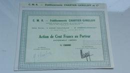 établissements CHARTIER-GANGLOFF (ambérieu En Bugey) - Actions & Titres