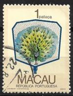 Macau Macao – 1987 Fans 1 Pataca Used Stamp - Macao