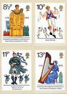 GB GREAT BRITAIN 1976 MINT PHQ CARDS BRITISH CULTURAL TRADITIONS  N17 ARCHDRUID MORRIS DANCING SCOTS PIPER WELSH HARPIST - 1952-.... (Elizabeth II)