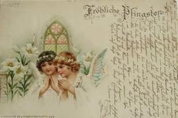 """Pfingsten, Engel, Lilie, Kirche"" 1899 ♥ (13748) - Pentecôte"