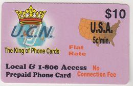 USA - The Kink Of Phone Cards, UCN Prepaid 10$, Used - Etats-Unis