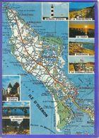 Carte Postale Géographique D'après Carte Michelin N°71 Île D'Oléron Et Ses Environs - Mapas