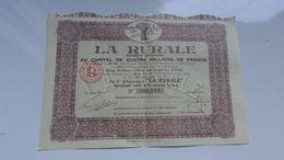 LA RURALE (1929) LYON - Actions & Titres