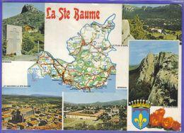 Carte Postale Géographique D'après Carte Michelin N°989 La Ste-Baume Et Ses Environs - Mapas