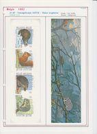 België/Belgique 1992 - B23xx - Postfris - Natuur. Kleine Zoogdieren - Neuf - Nature. Petits Mammifères. - Postzegelboekjes 1953-....