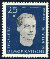 755 Gedenkstätte Sachsenhausen Sandtner 25+10 Pf ** - Unclassified