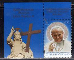 CITTÀ DEL VATICANO VATIKAN VATICAN 2014 CANONIZZAZIONE DI PAPA GIOVANNI PAOLO II POPE € 0,85 MNH - Vatican