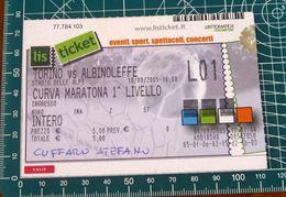 Calcio Biglietto Ticket TORINO Vs ALBINOLEFFE Curva Maratona Stadio Delle Alpi  10/09/2005 - Tickets D'entrée