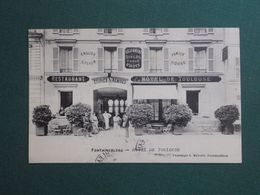 CPA FONTAINEBLEAU HOTEL DE TOULOUSE 1905  SUPERBE - Fontainebleau