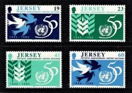 Jersey 1995 United Nations 50th Anniversary Set Of 4 MNH - Jersey