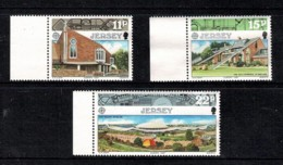 Jersey 1987 Europa Marginal Set Of 3 Mint No Gum - Jersey