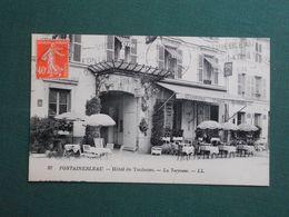 CPA FONTAINEBLEAU HOTEL DE TOULOUSE  LA TERRASSE 1927  SUPERBE - Fontainebleau