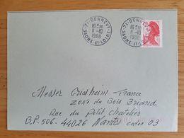 DENNEVY - 11 Octobre 1988 - Saône Et Loire - Marcophilie (Lettres)