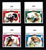 Jersey 1995 Christmas Pantomines Marginal Set Of 4 MNH - Jersey