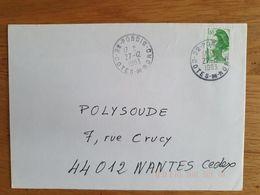 PORDIC - 27 Décembre 1983 - Côtes Du Nord - D'Armor - Marcophilie (Lettres)