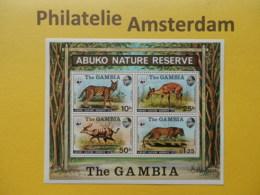 Gambia 1976, WWF FAUNA ABUKO NATURE RESERVE (I): Mi 332-35, Bl. 2, ** - W.W.F.