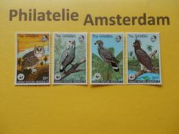 Gambia 1978, WWF FAUNA ABUKO NATURE RESERVE (II) / BIRDS OF PREY: Mi 374-77, ** - Neufs