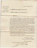 2è Restauration, Gard,  Sept.1815 : Mesures à Prendre à L'égard Des Militaires Licenciés.... - Documenti Storici