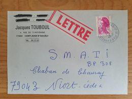 SAINT JEAN D'ANGELY - 6 Janvier 1989 - Charente Maritime - Marcophilie (Lettres)