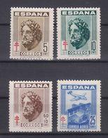 EDIFIL 1040/3 ESPAÑA SERIE COMPLETA - NUEVA SIN GOMA - PRO TUBERCULOSOS 1948 - TEMA AVIONES Y CRUZ DE LORENA - OFERTA - 1931-50 Usados