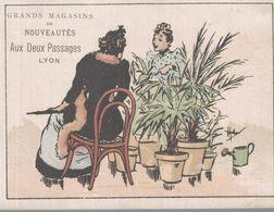 CHROMO  AUX DEUX PASSAGES NOUVEAUTES LYON  LES BOURGEOISES EN GRANDE DISCUSSION - Trade Cards