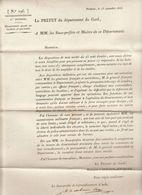 2è Restauration, Gard,  Sep. 1815 : Coopérer Avec Les Forces D'occupation ..... - Documenti Storici