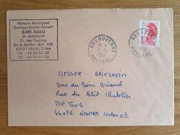 LOUVERNE - 8 Novembre 1988 - Mayenne - Marcophilie (Lettres)