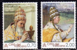CITTÀ DEL VATICANO VATIKAN VATICAN 2013PONTEFICI DEL RINASCIMENTO GIULIO II LEONE X PAPI SERIE COMPLETA COMPLETE SET MNH - Vatican