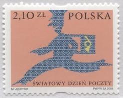 Poland 2004 Mi 4154 World Day Of Post, Running Postman MNH** - 1944-.... Republic