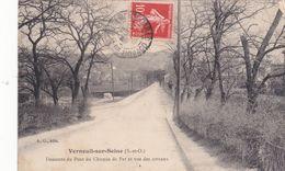 CPA (78) VERNEUIL Sur SEINE Descente Du Pont Du Chemin De Fer Vue Des Coteaux (R.V)  D 612 - Verneuil Sur Seine