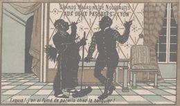 CHROMO  AUX DEUX PASSAGES NOUVEAUTES LYON  EXQUIS J'EN AI FUME DE PAREILS CHEZ LE BANQUIER - Trade Cards