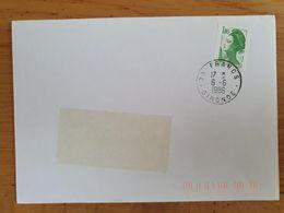 FRANCS - 6 Juin 1986 - Gironde - Marcophilie (Lettres)