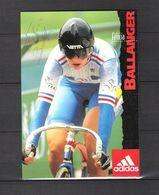 PHOTO Format CP / DÉDICACE De FELICIA BALANGER   Pistarde Française - Championne Olympique Et Du Monde De Vitesse - Cyclisme