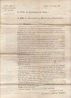2è Restauration, Gard, Oct. 1815 : Complots Anti-royalistes En Cévennes Et  Dauphiné (4 Scans) - Documenti Storici
