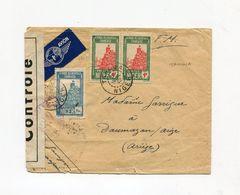 !!! NIGER, LETTRE PAR AVION DE TAHOUA POUR LA FRANCE DE 1942, AVEC CENSURE - Niger (1921-1944)