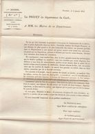 2è Restauration, Gard, Janv. 1816 : Anniversaire De La Mort Du Roi Louis XVI - Documenti Storici