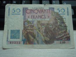 Billet  De Cinquante 50 Francs Type Le Verrier 1946 - 1871-1952 Circulated During XXth