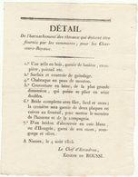 2è Restauration, Gard,  Août 1815 : Détail Du Harnachement Des Chevaux Réquisitionnés - Documenti Storici