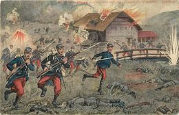 Guerre 1914-18-militaires-militaria -ref M347- Illustrateurs- Illustrateur Chamouin -en Haute Alsace -moulin - - Guerra 1914-18