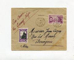!!! NIGER, LETTRE DE MATADI POUR BOURGOIN DU 28/4/1933, PAR AVION VIA NIAMEY - ALGER - Niger (1921-1944)