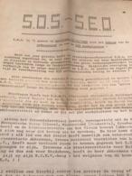 SOS S.E.O 1980 OOSTENDE Brief Staking Tegen De Sluiting - Oostende