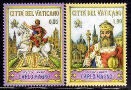 CITTÀ DEL VATICANO VATIKAN VATICAN 2014 CARLO MAGNO CHARLES THE GREAT SERIE COMPLETA COMPLETE SET MNH - Vatican