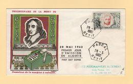 Algerie - Pascal - Setif - 28-5-1962 - Premier Jour - FDC - Algeria (1924-1962)
