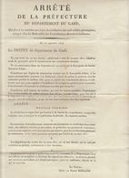 1ère Restauration, Gard, Sept. 1814 : Serment De Fidélité Au Roi Pour Les Fonctionnaires (2 Scans) - Documenti Storici