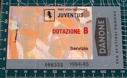 Calcio Biglietto Ticket JUVENTUS Vs EINTRACHT Francoforte COPPA UEFA 14/03/1995 - Tickets D'entrée