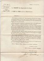 2ème Restauration, Gard, Août 1815 : Fêtes De La Saint-Louis - Documenti Storici